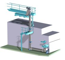 Conveyor system stainless steel, conveyed material: Sewage sludge