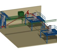 Conveyor system flexible, conveyed material: Rubber granulate